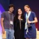 Lucas Farrell and Louisa Conrad of Big Picture Farms win Best New Product Award at Summer Fancy Food Show. Pictured with Chopped judge Chef Alex Guarnaschelli (center). (PRNewsFoto/Specialty Food Association)